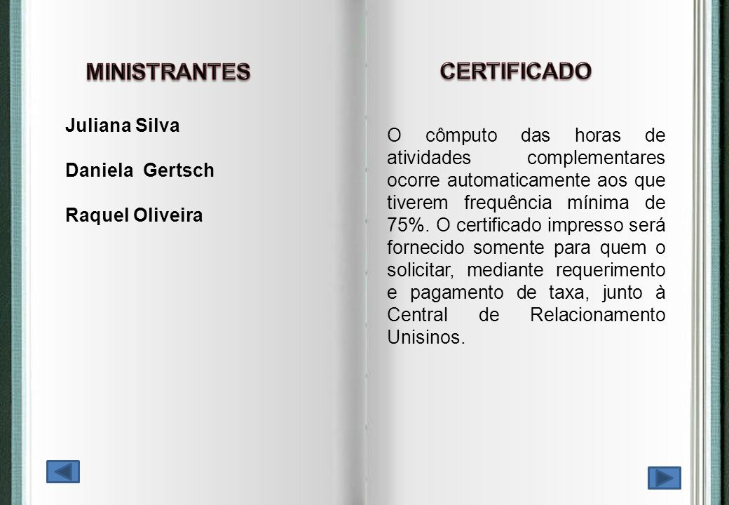 MINISTRANTES CERTIFICADO