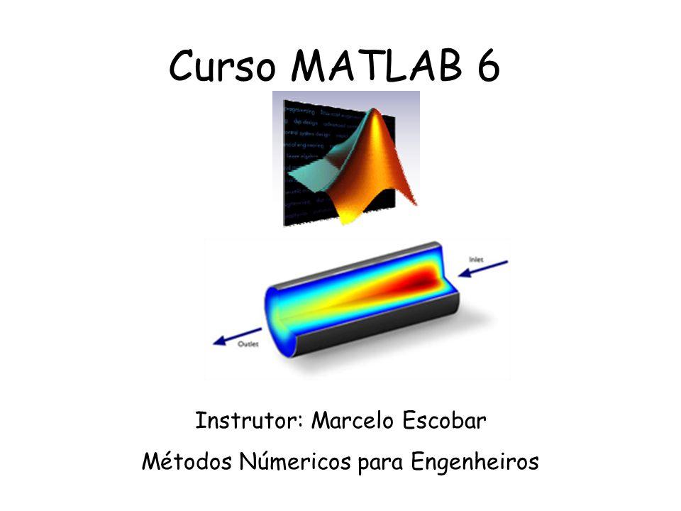 Curso MATLAB 6 Instrutor: Marcelo Escobar