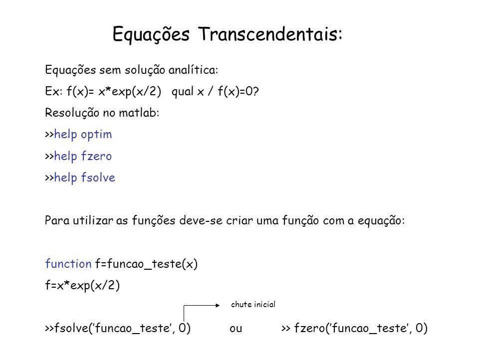 Equações Transcendentais: