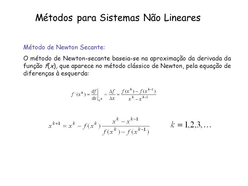 Métodos para Sistemas Não Lineares