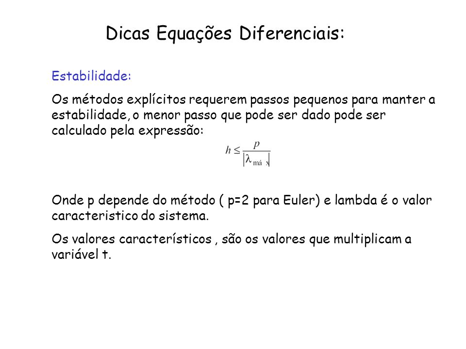 Dicas Equações Diferenciais: