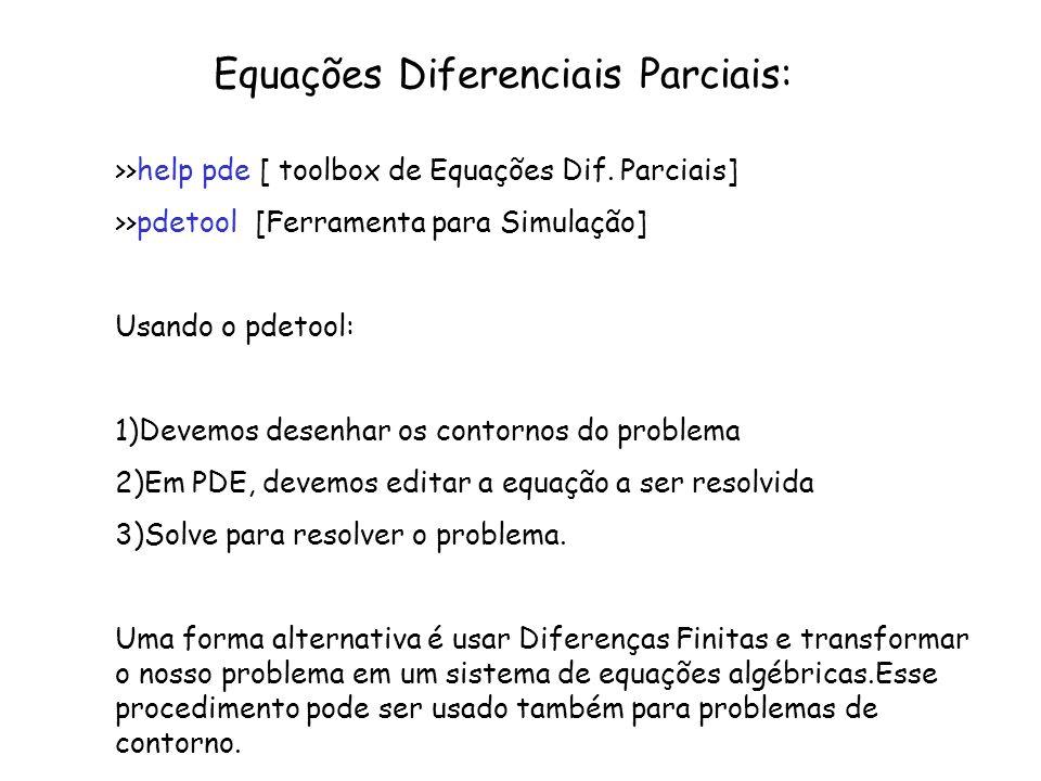 Equações Diferenciais Parciais: