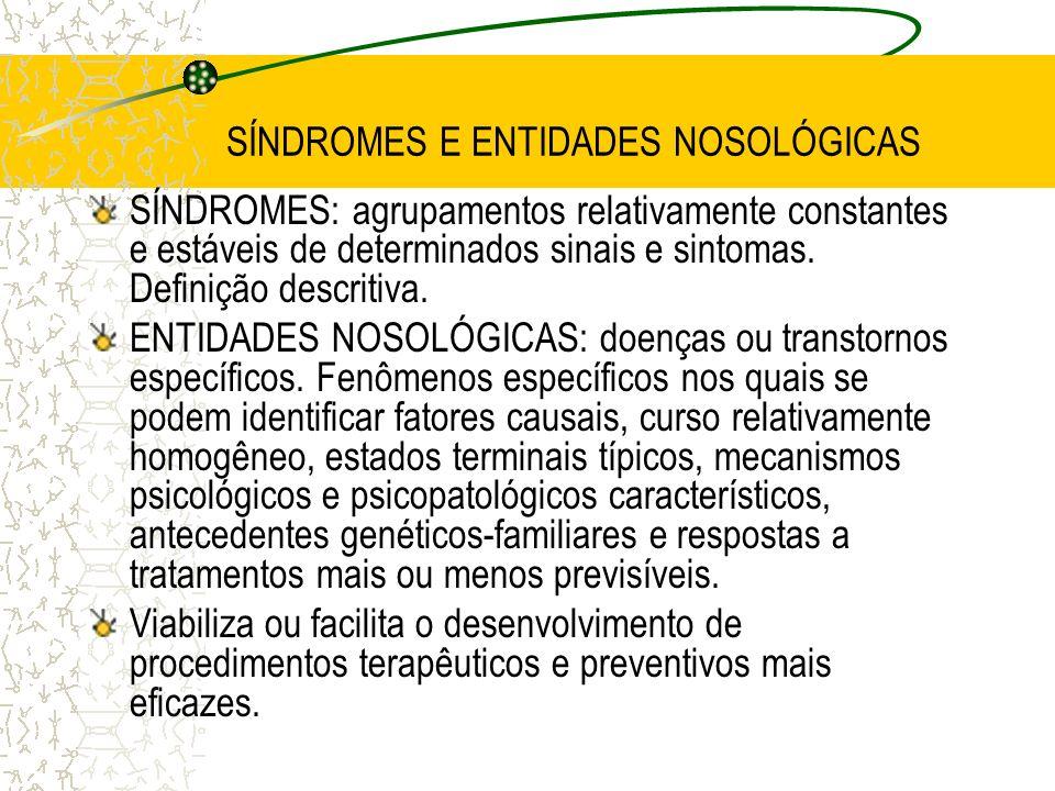 SÍNDROMES E ENTIDADES NOSOLÓGICAS