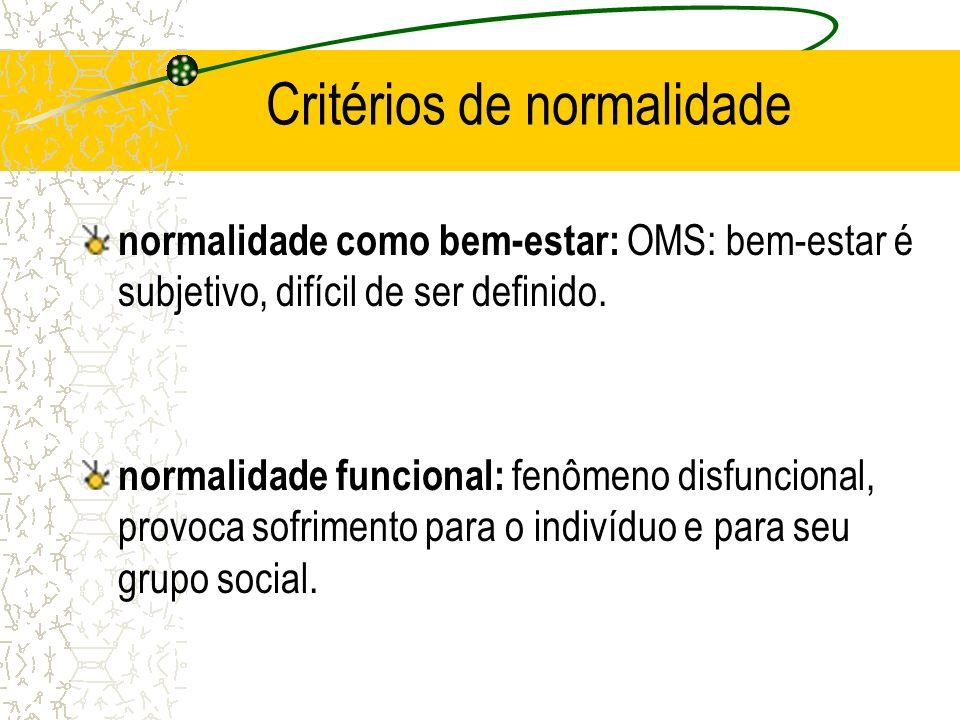 Critérios de normalidade
