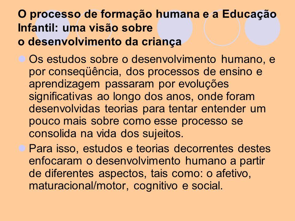 O processo de formação humana e a Educação Infantil: uma visão sobre o desenvolvimento da criança