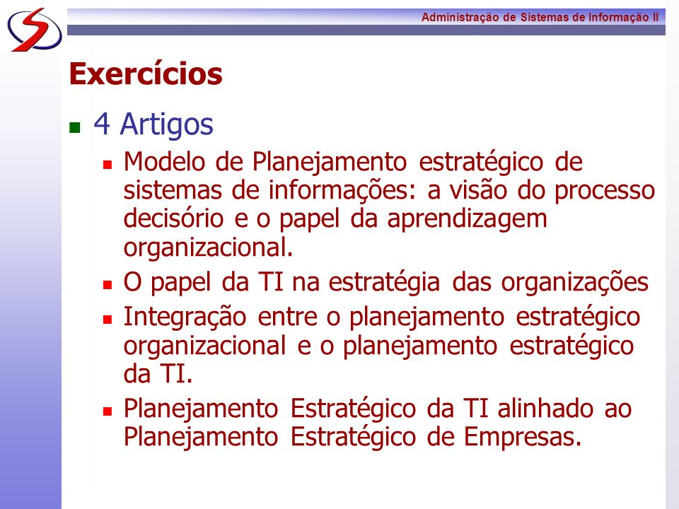 Exercícios 4 Artigos.