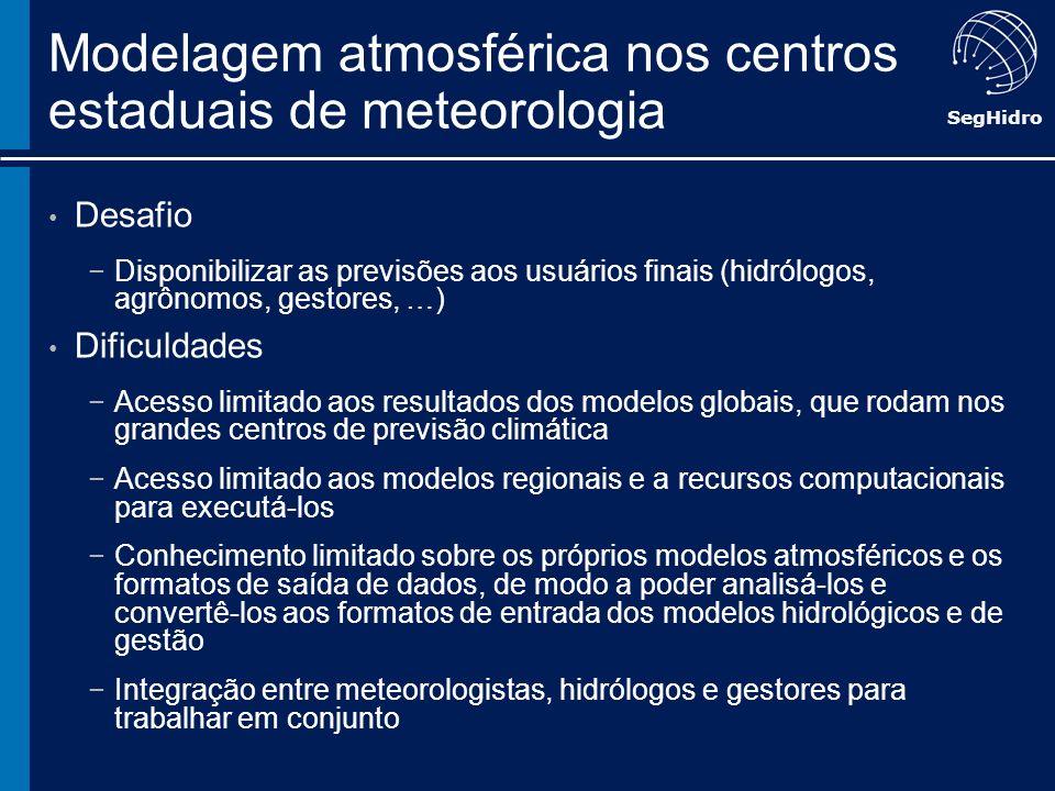 Modelagem atmosférica nos centros estaduais de meteorologia