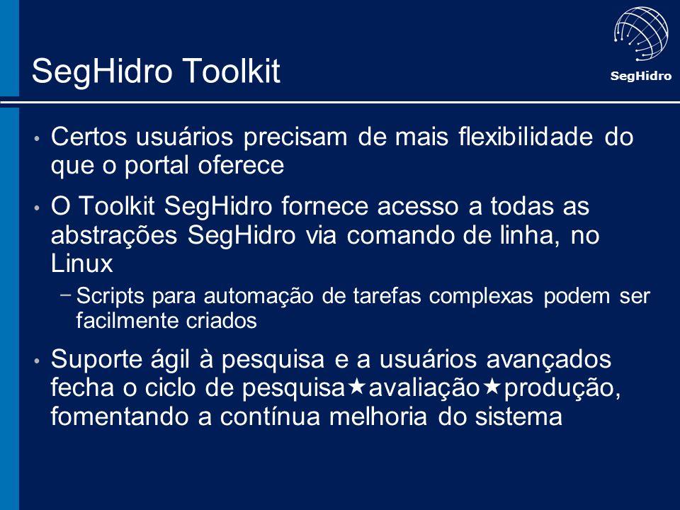 SegHidro Toolkit Certos usuários precisam de mais flexibilidade do que o portal oferece.