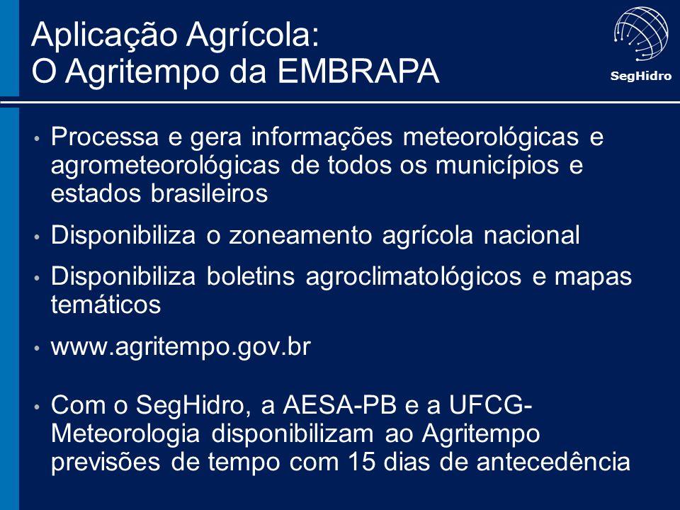 Aplicação Agrícola: O Agritempo da EMBRAPA