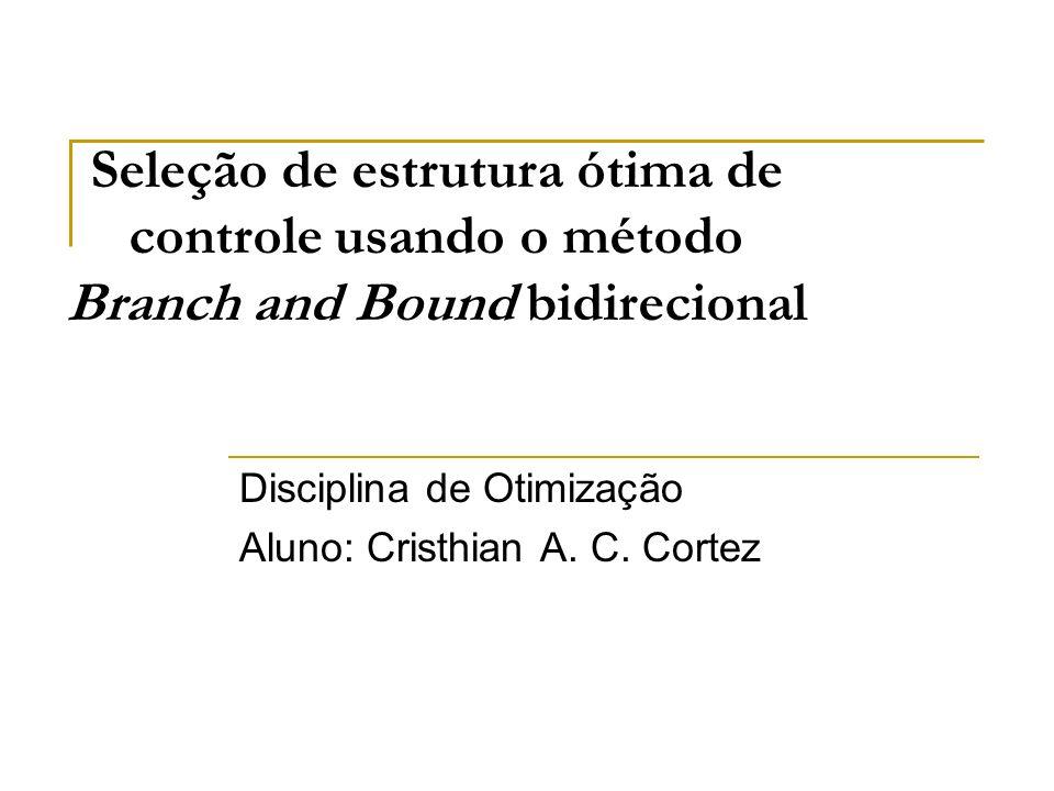 Disciplina de Otimização Aluno: Cristhian A. C. Cortez