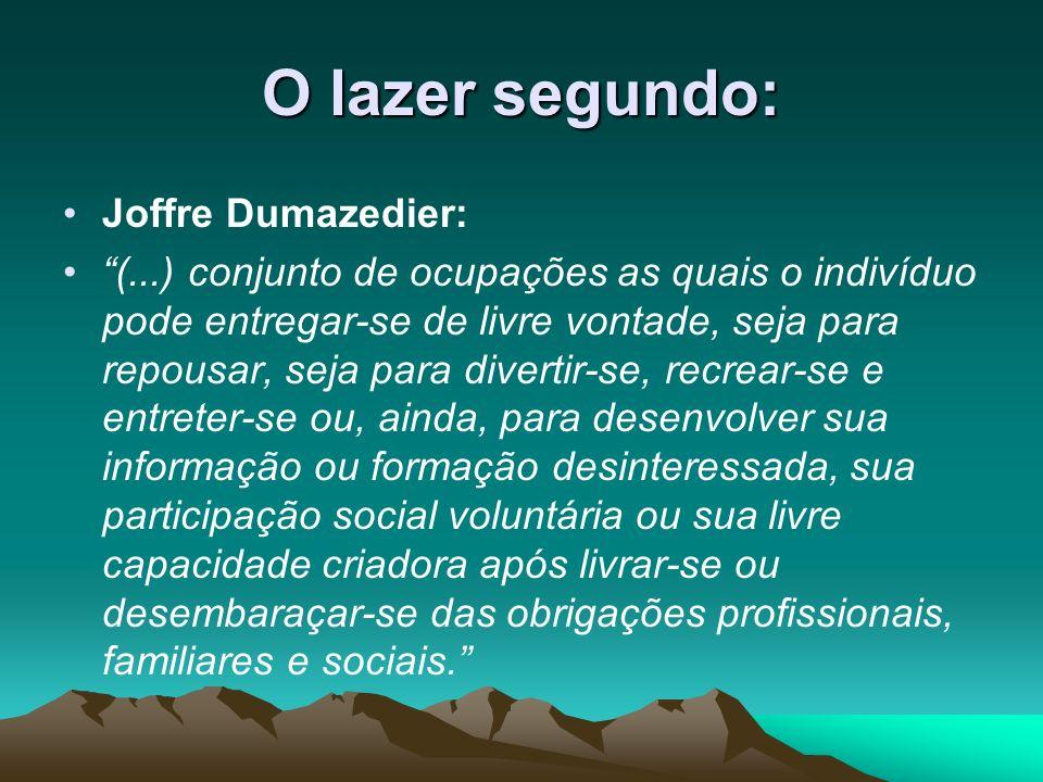 O lazer segundo: Joffre Dumazedier:
