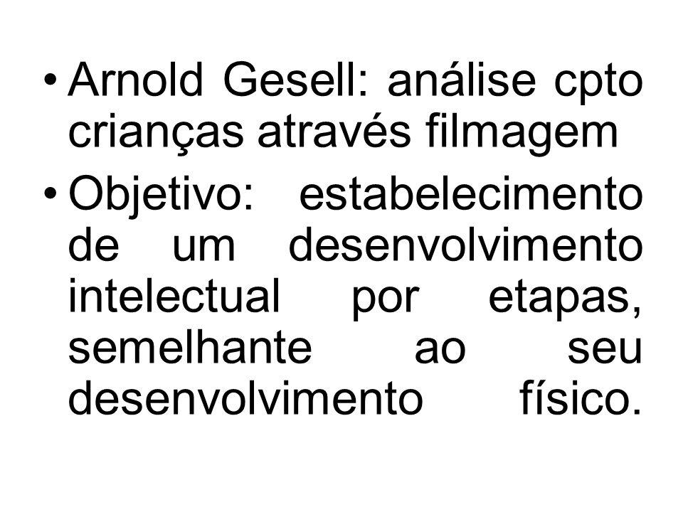 Arnold Gesell: análise cpto crianças através filmagem