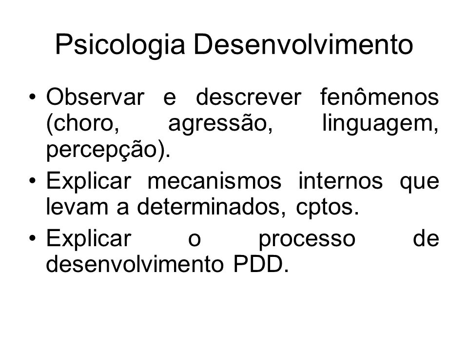 Psicologia Desenvolvimento