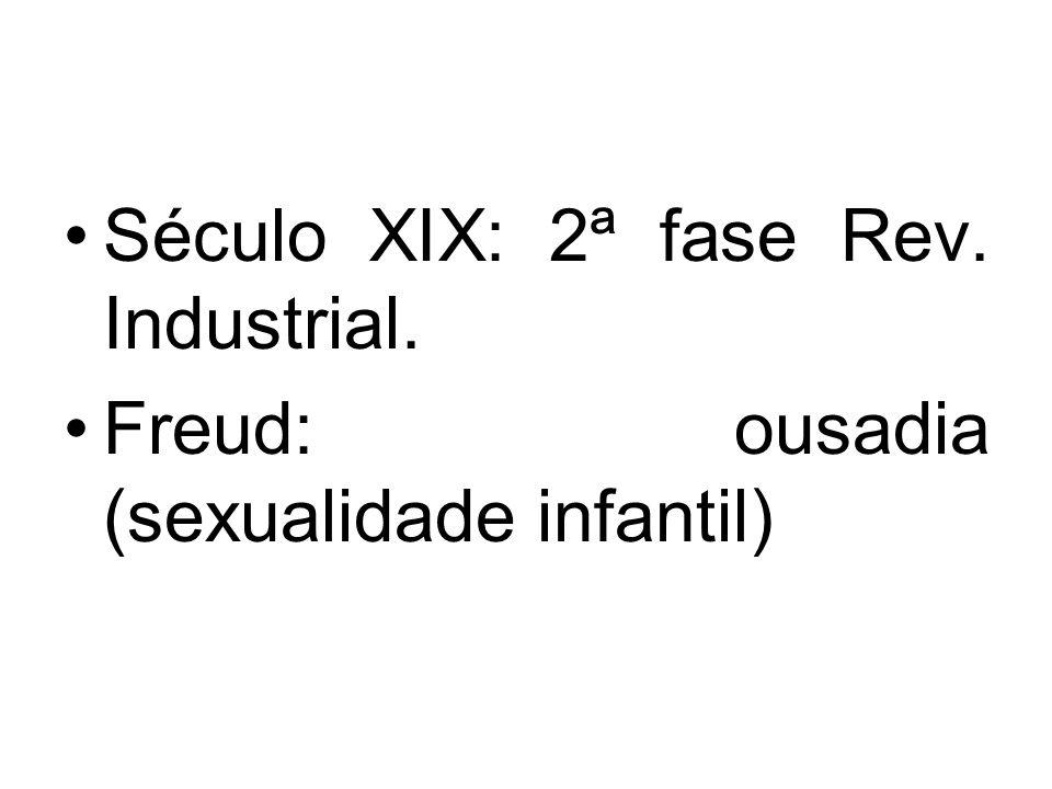 Século XIX: 2ª fase Rev. Industrial.
