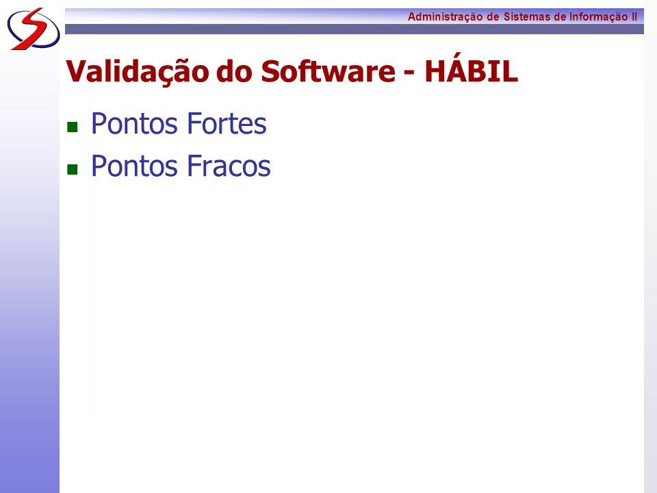 Validação do Software - HÁBIL