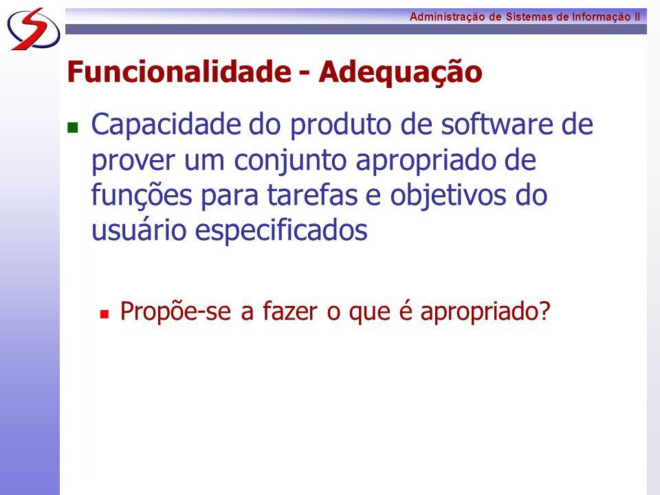 Funcionalidade - Adequação