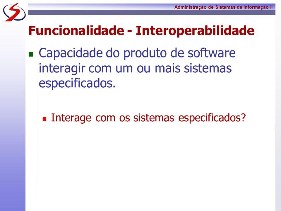 Funcionalidade - Interoperabilidade