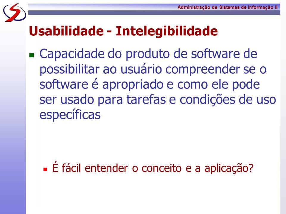 Usabilidade - Intelegibilidade