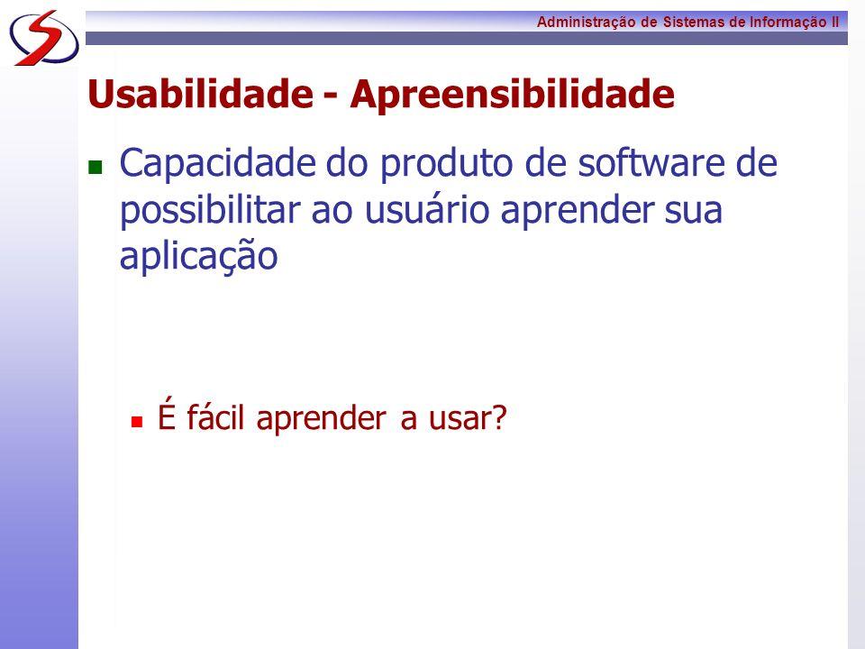 Usabilidade - Apreensibilidade