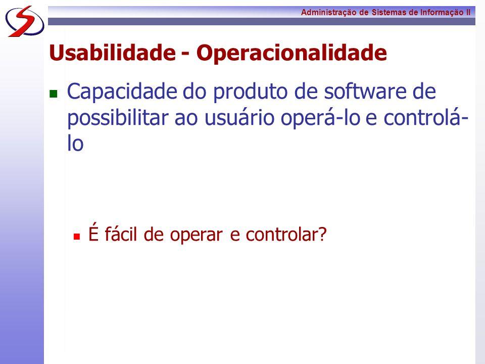 Usabilidade - Operacionalidade