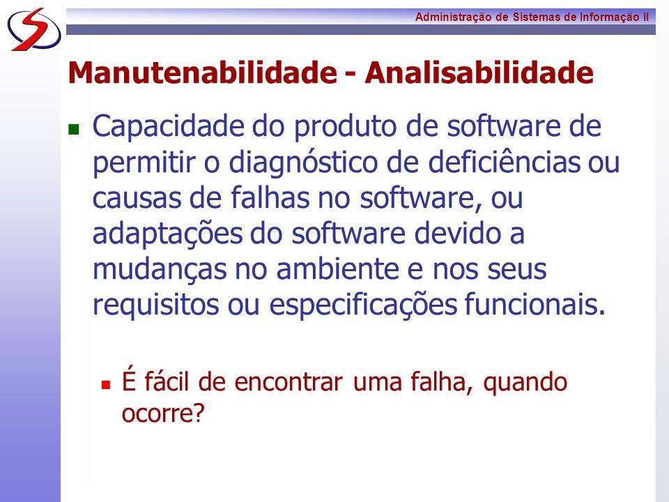 Manutenabilidade - Analisabilidade