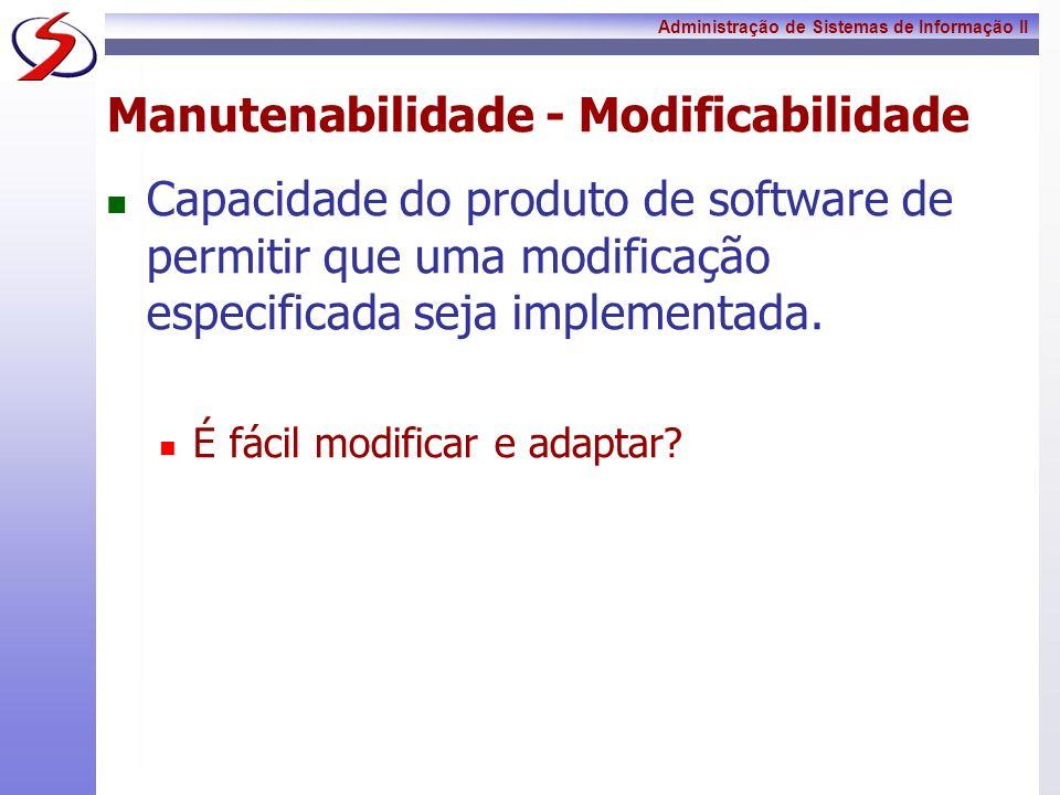 Manutenabilidade - Modificabilidade