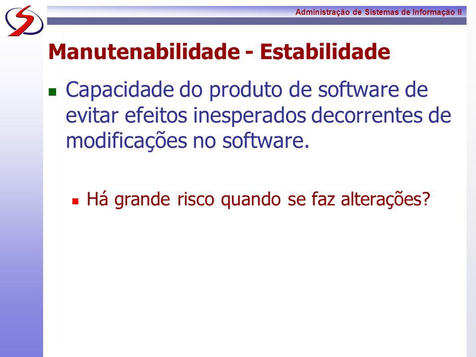 Manutenabilidade - Estabilidade