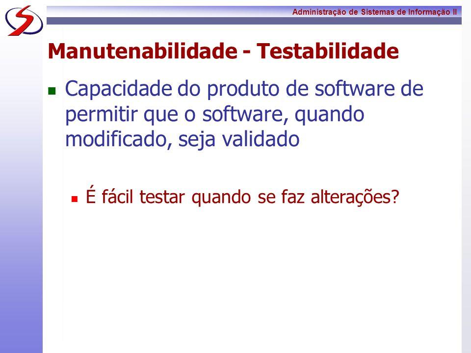 Manutenabilidade - Testabilidade