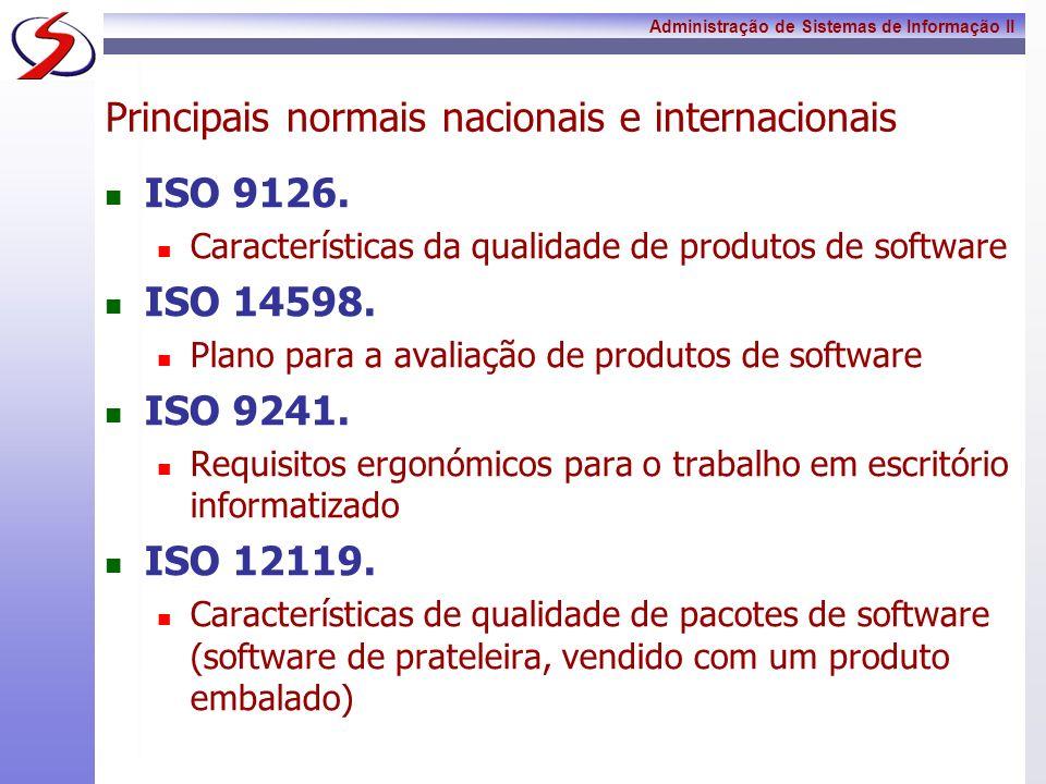 Principais normais nacionais e internacionais