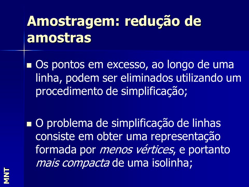 Amostragem: redução de amostras
