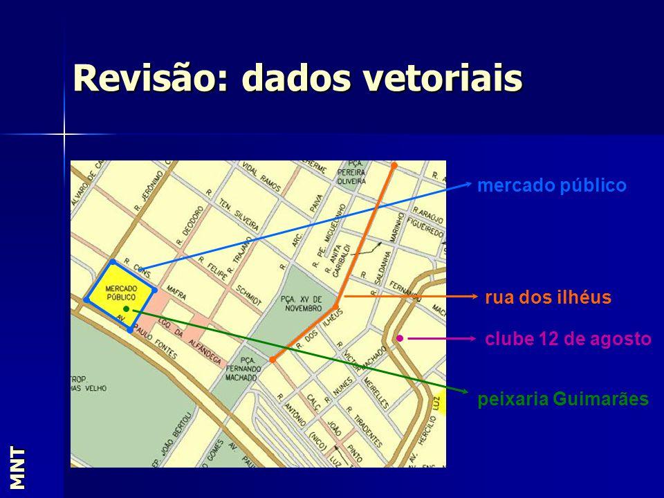 Revisão: dados vetoriais