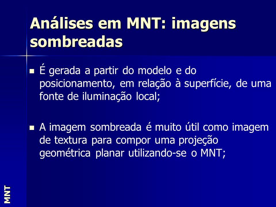 Análises em MNT: imagens sombreadas