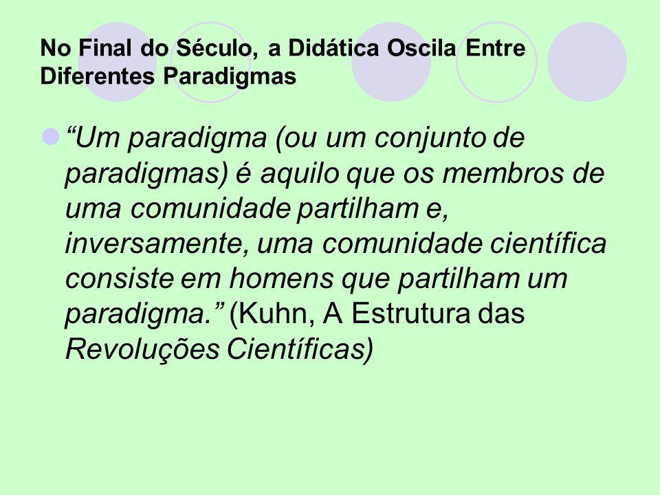 No Final do Século, a Didática Oscila Entre Diferentes Paradigmas