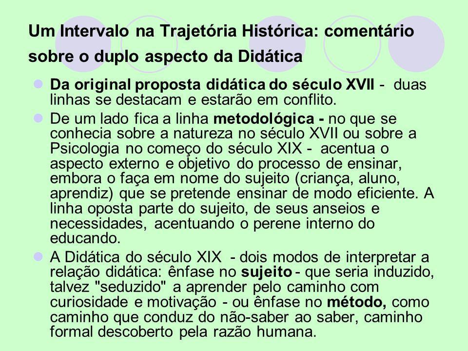 Um Intervalo na Trajetória Histórica: comentário sobre o duplo aspecto da Didática