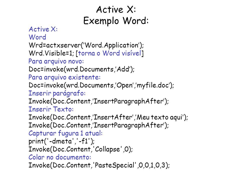 Active X: Exemplo Word: