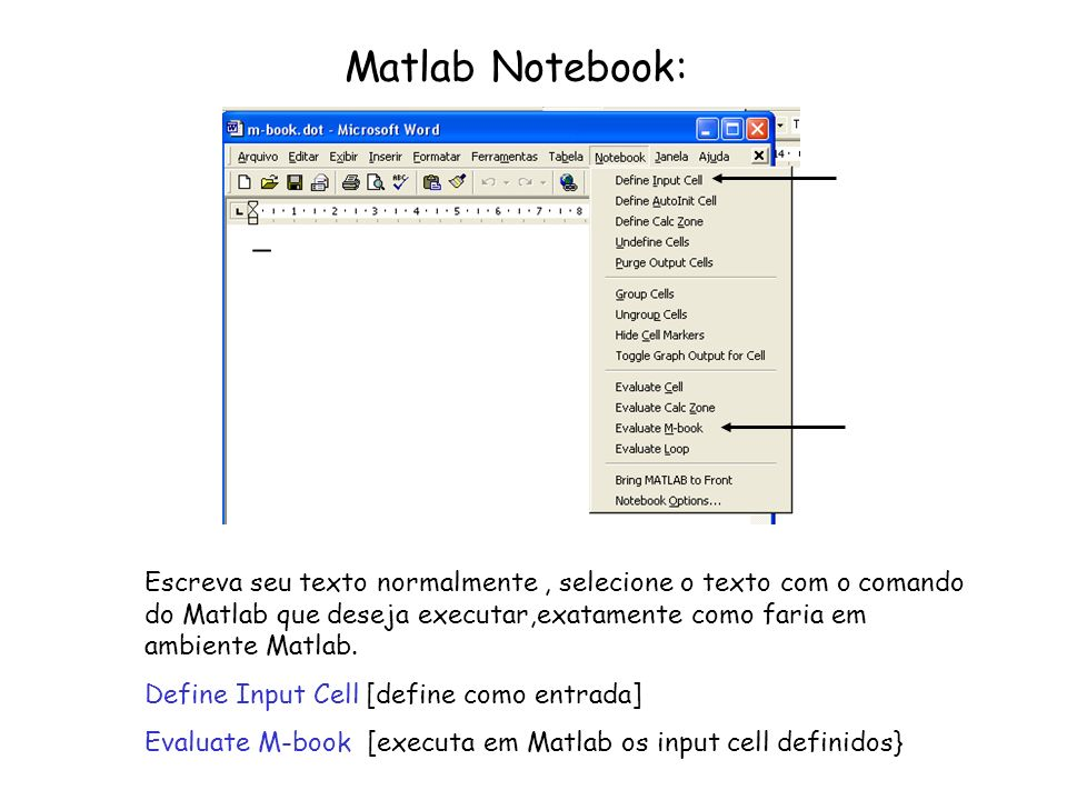 Matlab Notebook:
