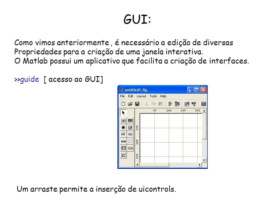GUI: Como vimos anteriormente , é necessário a edição de diversas