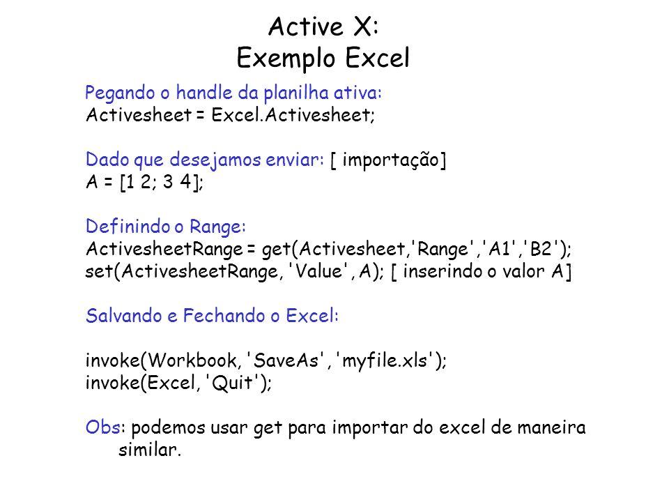 Active X: Exemplo Excel