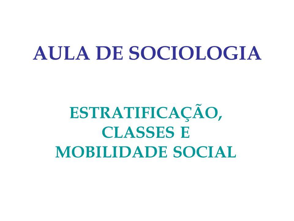 ESTRATIFICAÇÃO, CLASSES E MOBILIDADE SOCIAL