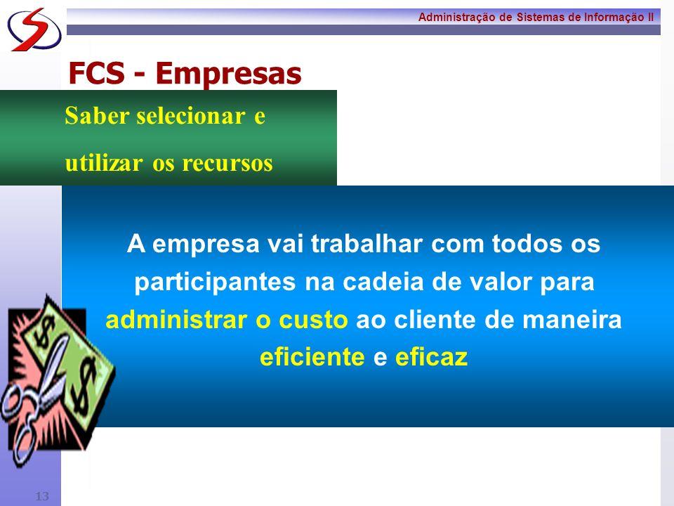 FCS - Empresas Saber selecionar e utilizar os recursos