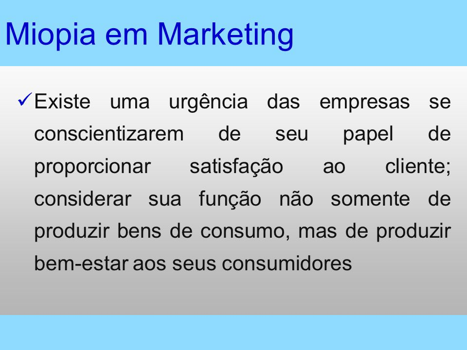 Miopia em Marketing