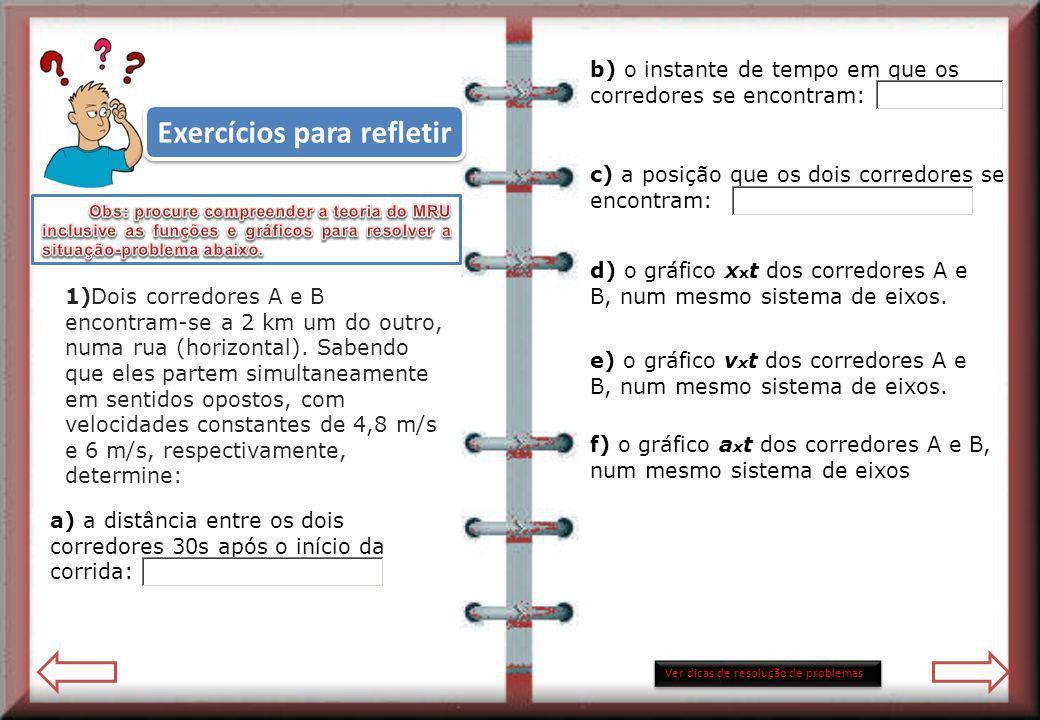 Exercícios para refletir