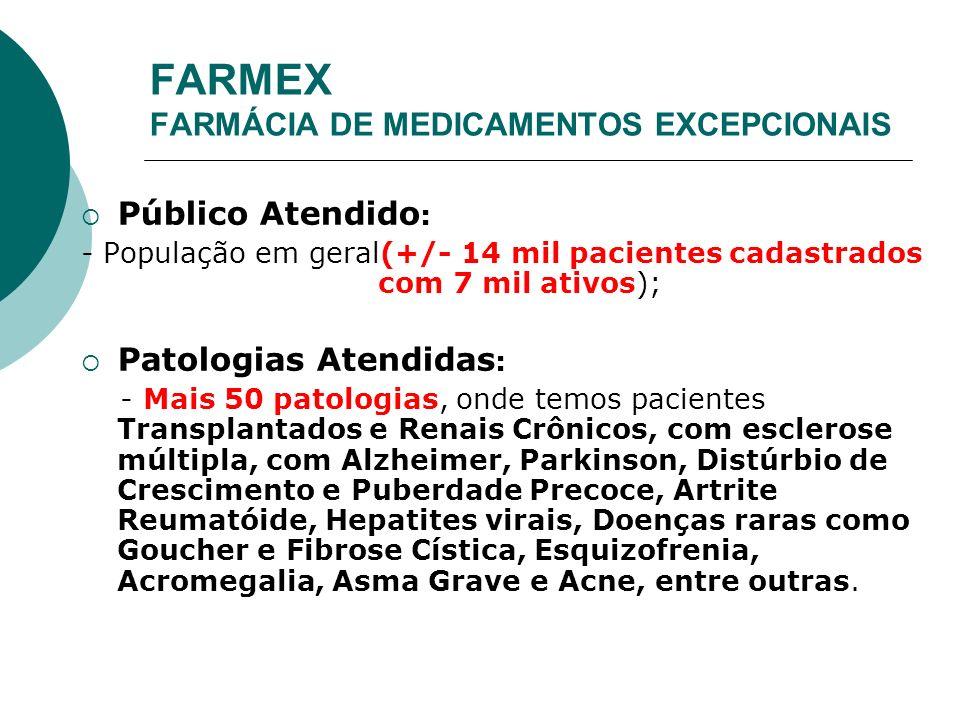 FARMEX FARMÁCIA DE MEDICAMENTOS EXCEPCIONAIS