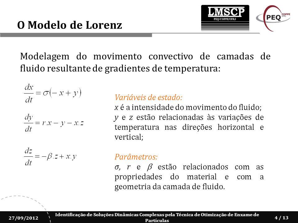 O Modelo de Lorenz Modelagem do movimento convectivo de camadas de fluido resultante de gradientes de temperatura: