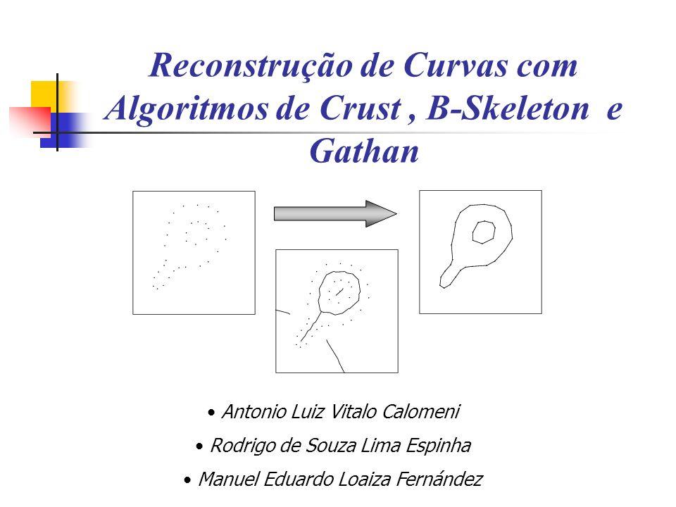 Reconstrução de Curvas com Algoritmos de Crust , B-Skeleton e Gathan