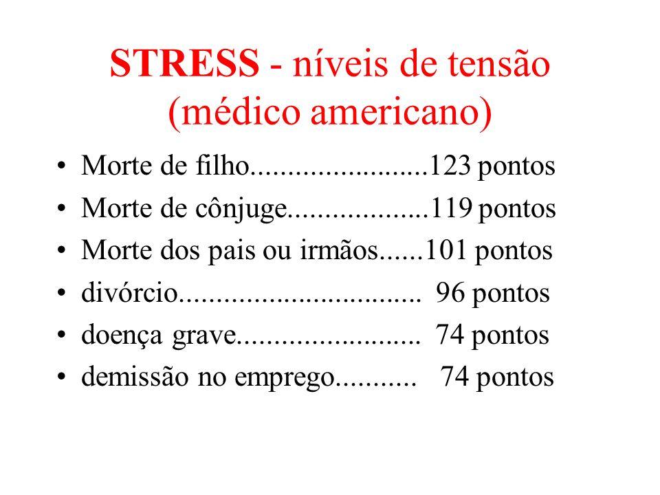 STRESS - níveis de tensão (médico americano)