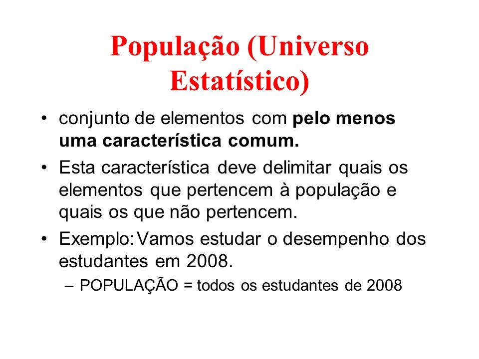 População (Universo Estatístico)