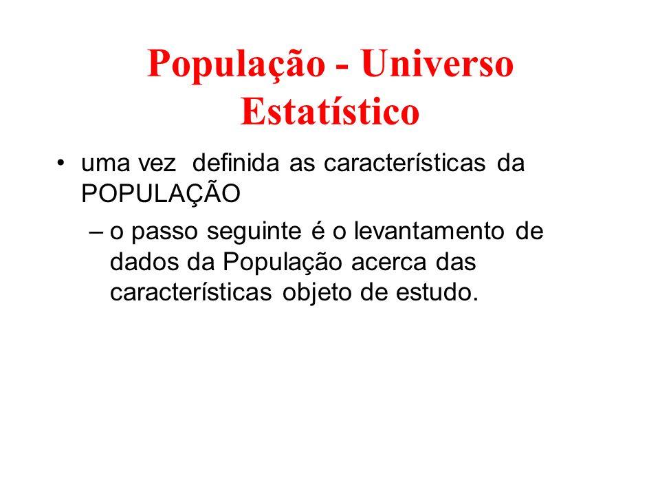 População - Universo Estatístico
