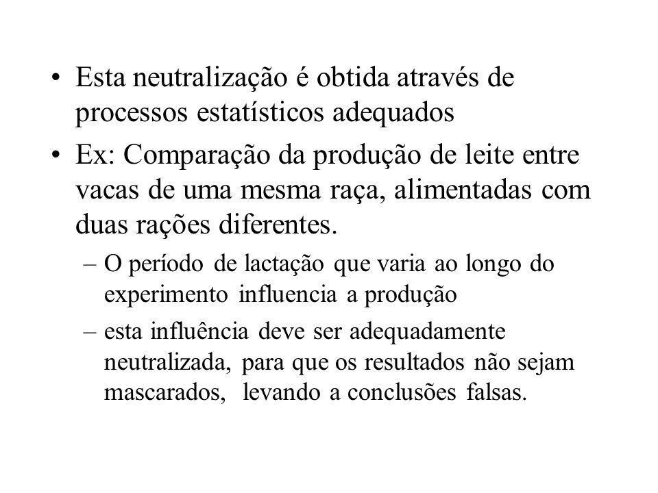 Esta neutralização é obtida através de processos estatísticos adequados