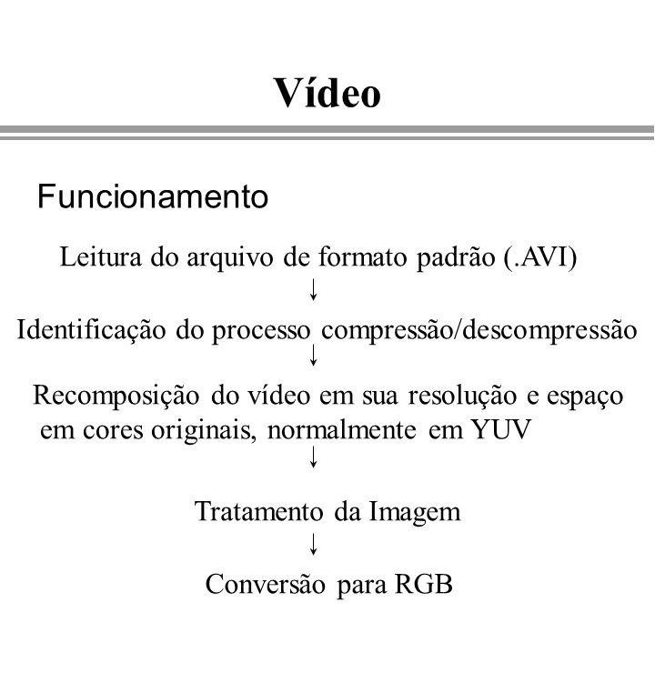 Vídeo Funcionamento Leitura do arquivo de formato padrão (.AVI)